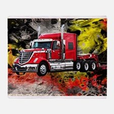 Big Truck - Red and Chrome Throw Blanket