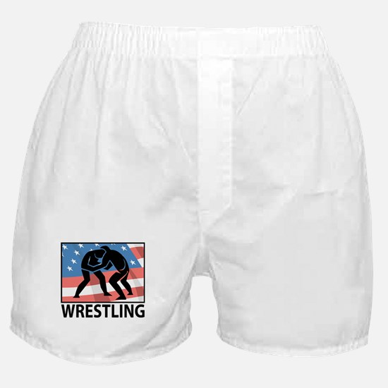 Wrestling In America Boxer Shorts