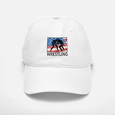 Wrestling In America Baseball Baseball Cap