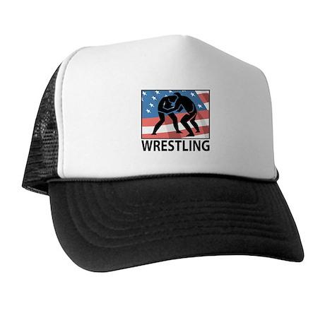 Wrestling In America Trucker Hat