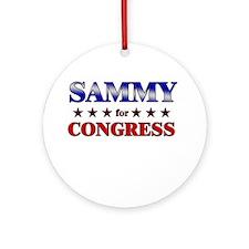 SAMMY for congress Ornament (Round)