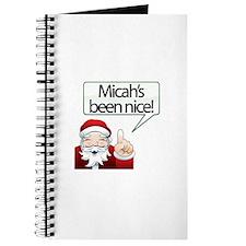 Micah's Been Nice Journal