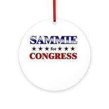 SAMMIE for congress Ornament (Round)