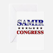 SAMIR for congress Greeting Card