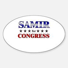 SAMIR for congress Oval Decal