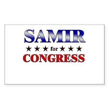 SAMIR for congress Rectangle Decal