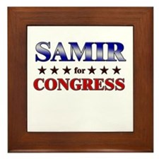 SAMIR for congress Framed Tile