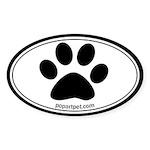 Paw Oval Sticker