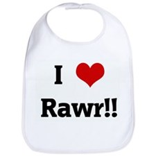 I Love Rawr!! Bib
