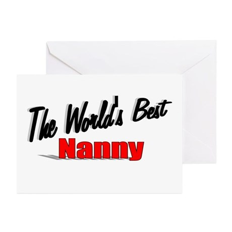 """The World's Best Nanny"" Greeting Cards (Pk of 10)"