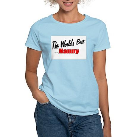 """The World's Best Nanny"" Women's Light T-Shirt"