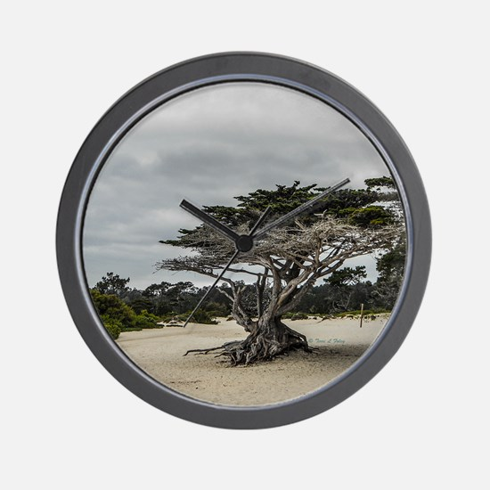 Carmel Beach Landscape Wall Clock