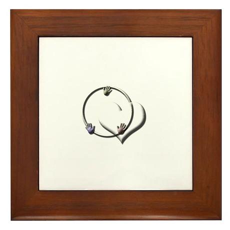 Candaa Circle of Love Framed Tile