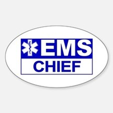 EMS Chief Oval Stickers