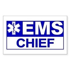 EMS Chief Rectangle Decal
