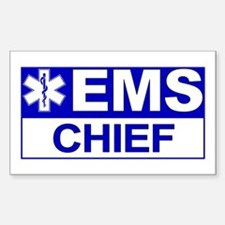 EMS Chief Rectangle Stickers
