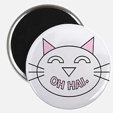 """""""oh hai."""" Kitty Cat Magnet"""