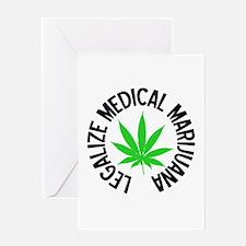 Cute Medical marijuana Greeting Card