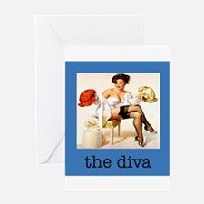 """""""The Pinup Girl"""" Greeting Card"""