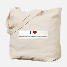 I Love Aa Bb Cc Dd Ee Ff Gg H Tote Bag