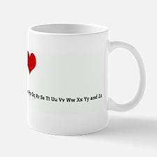 I Love Aa Bb Cc Dd Ee Ff Gg H Mug