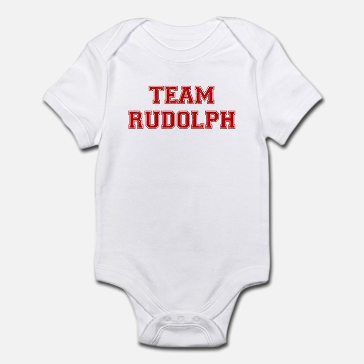 Team Rudolph Red Infant Bodysuit