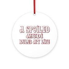 Spoiled Mudi Ornament (Round)