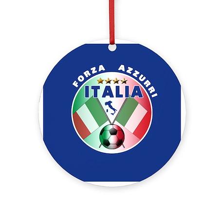 Italian Forza Azzurri Ornament (Round)