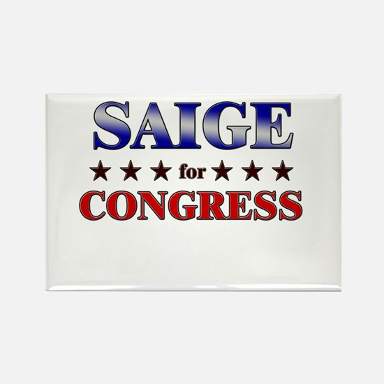 SAIGE for congress Rectangle Magnet
