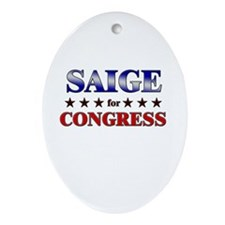 SAIGE for congress Oval Ornament