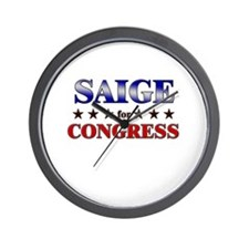 SAIGE for congress Wall Clock