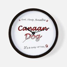 Canaan Dog Breathe Wall Clock