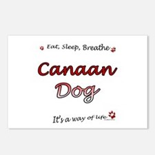 Canaan Dog Breathe Postcards (Package of 8)