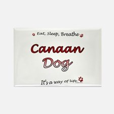 Canaan Dog Breathe Rectangle Magnet