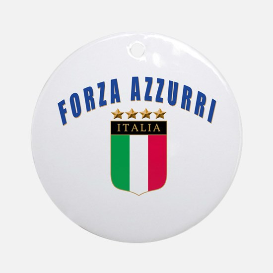 Forza azzurri Ornament (Round)