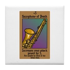 Saxophone of Death Tile Coaster