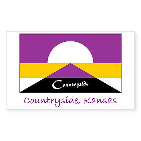 Countryside KS Flag Rectangle Sticker