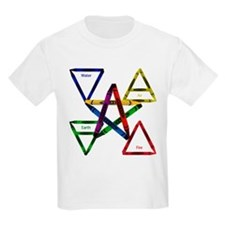 Crayon Element Pentacle Kids Tee