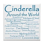 Cinderella Around the World Tile Coaster