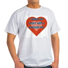 I Share My Heart Ash Grey T-Shirt