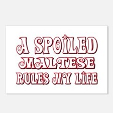 Spoiled Maltese Postcards (Package of 8)