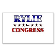 RYLIE for congress Rectangle Decal
