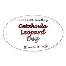 Catahoula Breathe Oval Decal