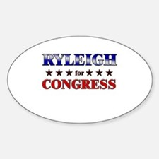 RYLEIGH for congress Oval Decal