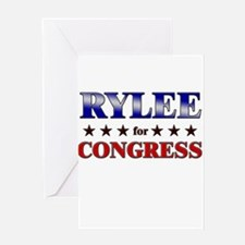 RYLEE for congress Greeting Card