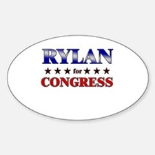 RYLAN for congress Oval Decal