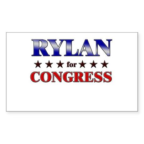 RYLAN for congress Rectangle Sticker