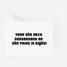 Price Is Right Greeting Cards