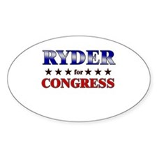 RYDER for congress Oval Decal