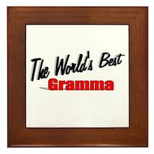 """""""The World's Best Gramma"""" Framed Tile"""